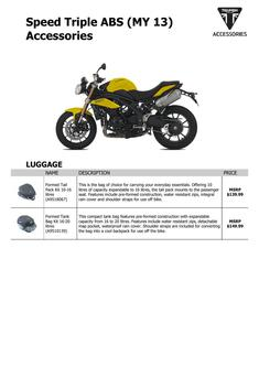 Speed Triple ABS (MY 13) Accessories 2013 (US)