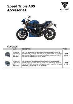 Speed Triple ABS Accessories 2014 (US)
