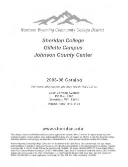 Sheridan College 2006-2008 Catalog