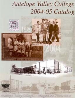 Antelope Valley College 2004-2005 Catalog