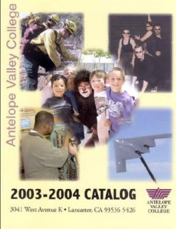Antelope Valley College 2003-2004 Catalog