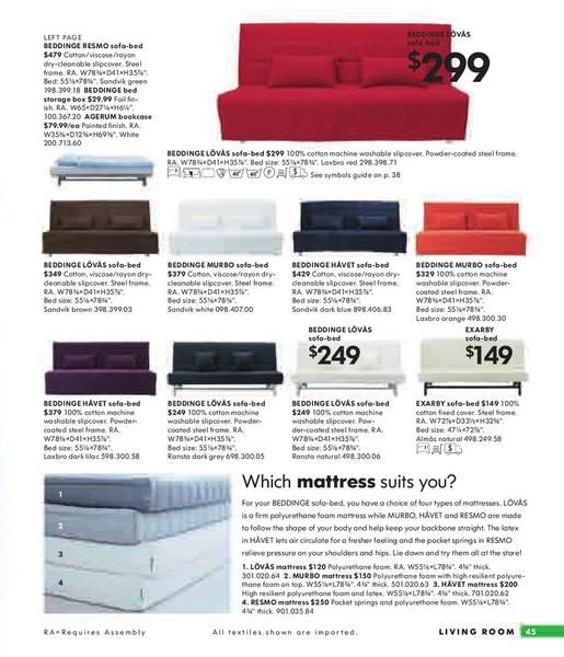 100 Beddinge Sofa Bed Slipcover Ikea Ps Lvs