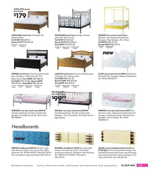 Ikea Aspelund Queen Bed Frame ~ Page 139 of IKEA Catalog 2008
