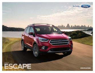 Ford Escape Specification 2017 (Spanish)