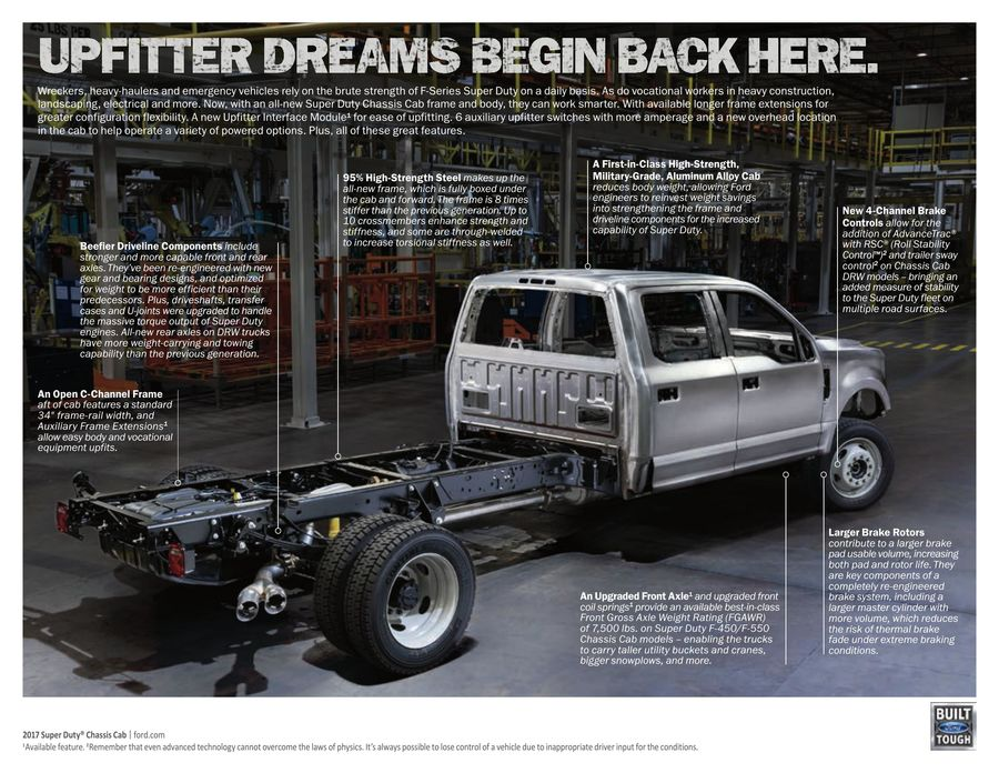 ford f350 cab and chassis towing capacity
