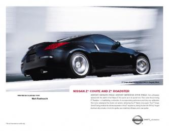 Nissan Z Coupe and Z Roadster Brochure