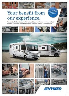 HYMER Experience package Pricelist 2017 (£)