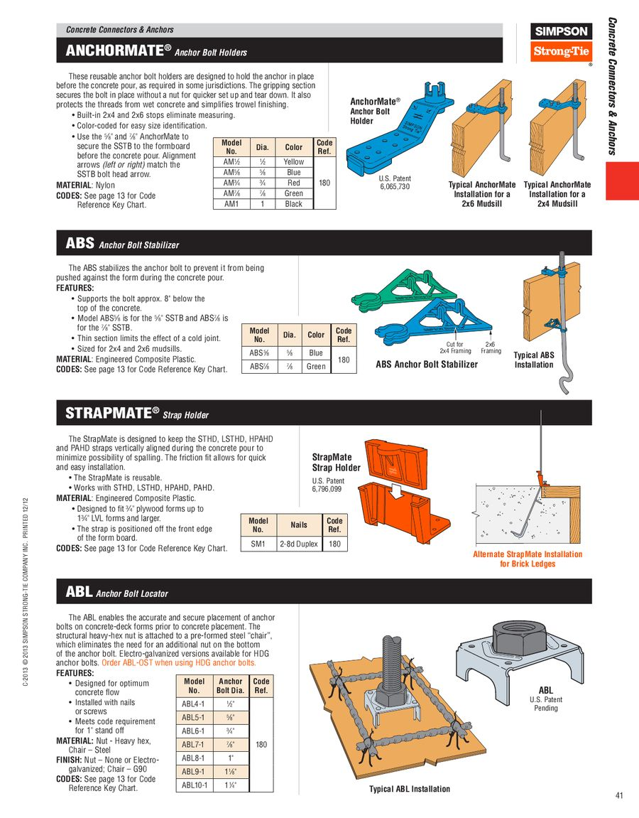 Page 41 Of Wood Construction Connectors 2013 2014