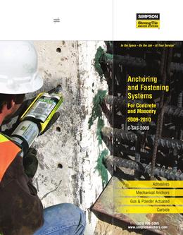 Anchoring and Fastening Systems For Concrete and Masonry 2009-2010