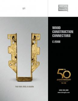 Wood Construction Connectors 2006 Catalog