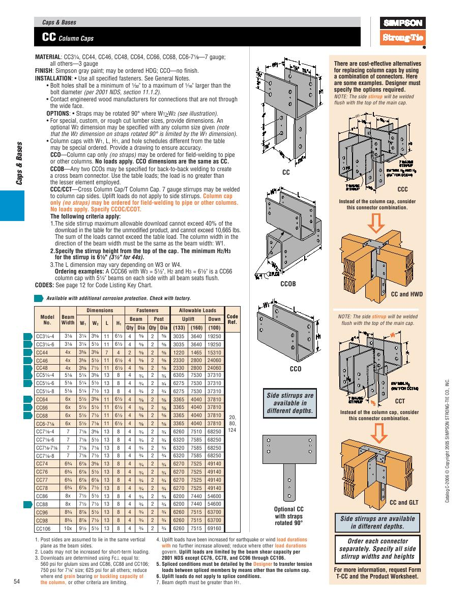 Page 50 of Wood Construction Connectors 2006 Catalog