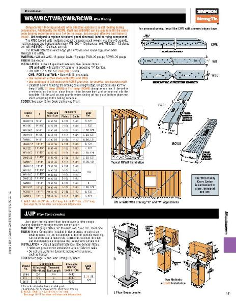 page 180 of wood construction connectors 2006 catalog. Black Bedroom Furniture Sets. Home Design Ideas