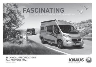 Camper vans Technical data 2016