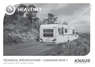Technical data - KNAUS Caravans 2018/2019