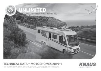 Technical data - KNAUS Motorhomes 2018/2019