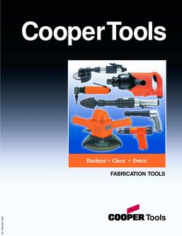 Buckeye, Cleco, Dotco Fabrication Tools