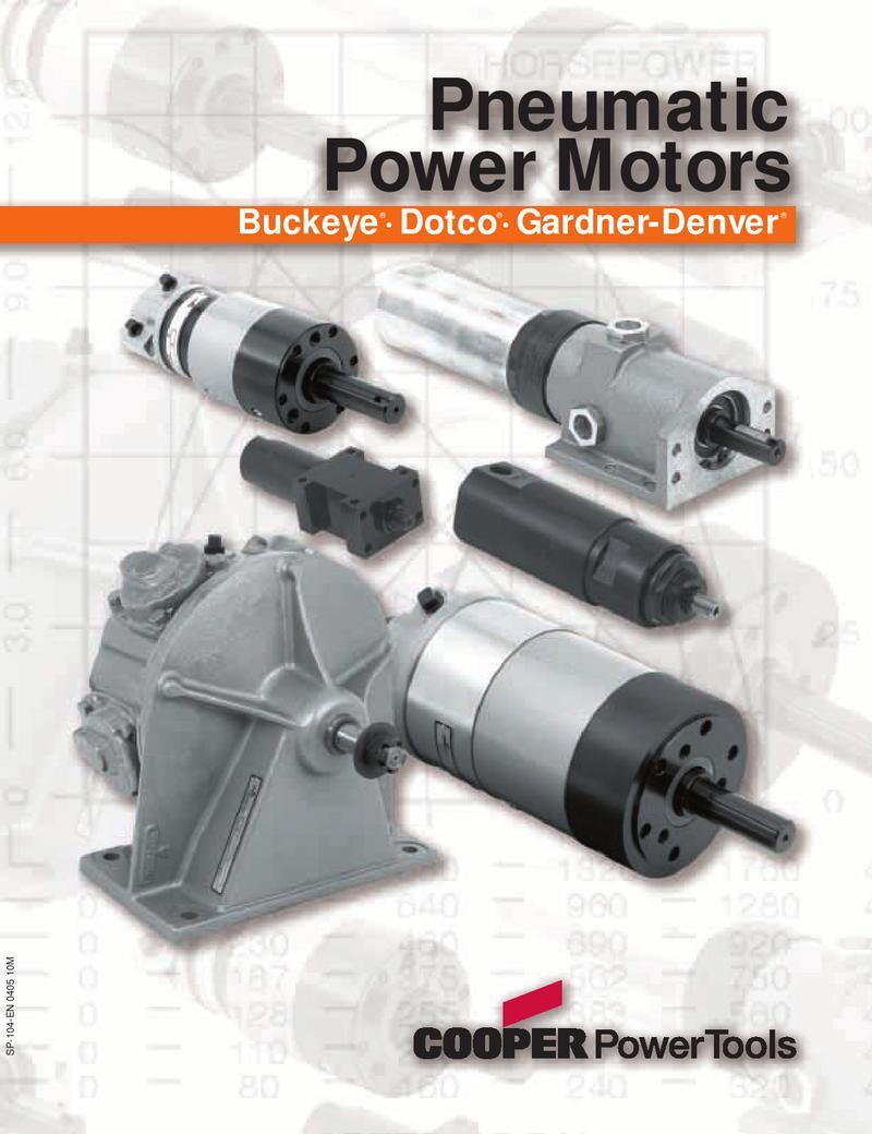 Buckeye Dotco Gardner Denver Pneumatic Power Motors By Cooper Motor Wiring Diagrams Tools