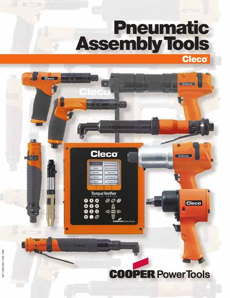 Catalogue: Cooper Power Tools Cleco Pneumatic Assembly Tools