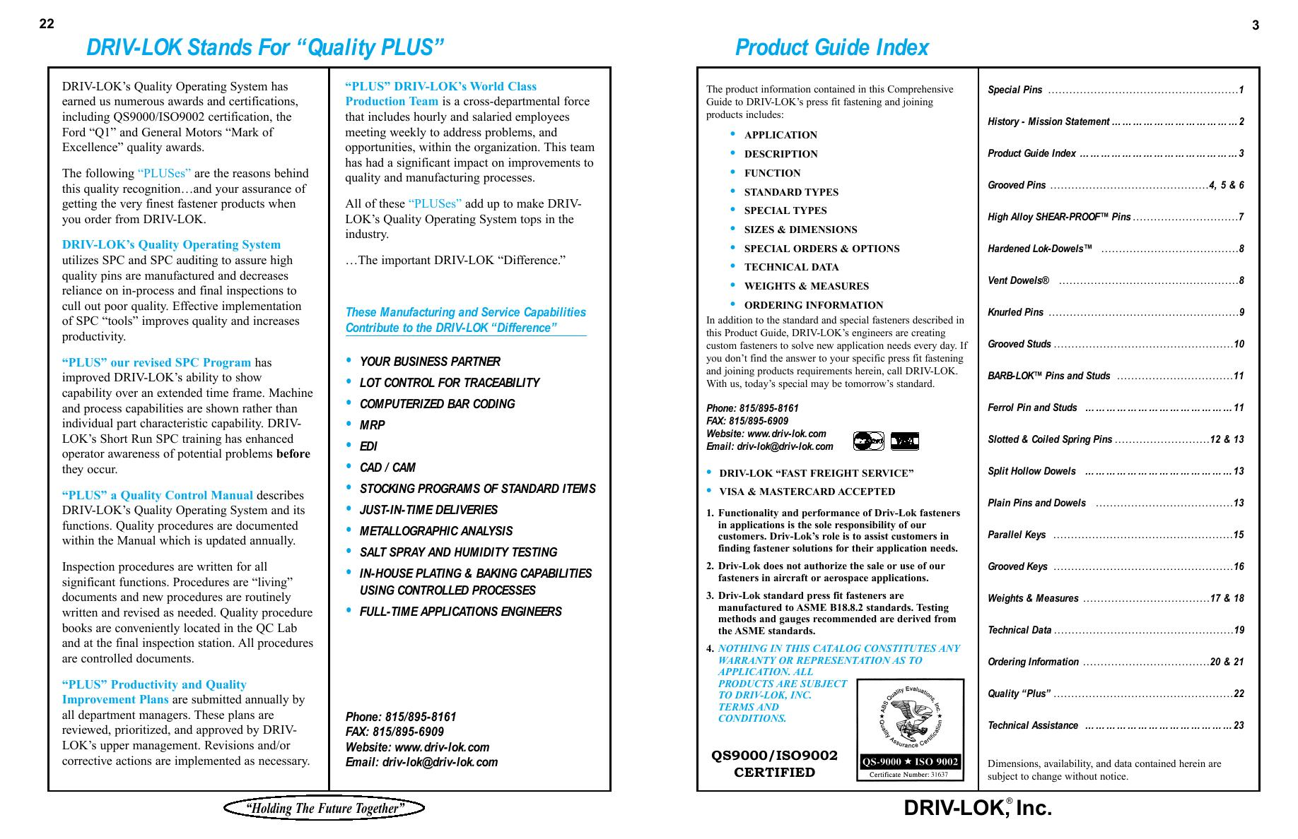Page 4 of Complete Line of Press Fit Fasteners