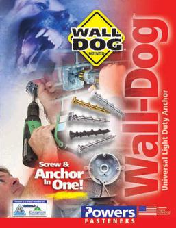 Wall-Dog™ Universal Light Duty Anchor 01/11