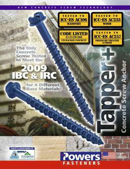 Tapper® Concrete Screw Anchor 08/09
