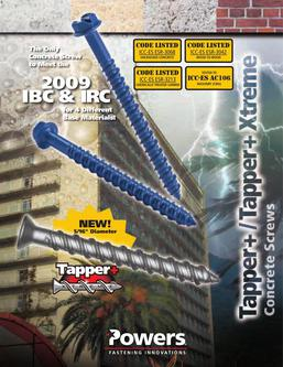 Tapper® + Concrete Screw Anchor 04/14