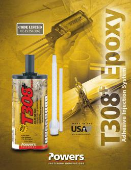 T308™+ Epoxy Adhesive Injection System 04/14