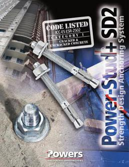 Power-Stud™+ SD2 Wedge Expansion Anchors 06/14