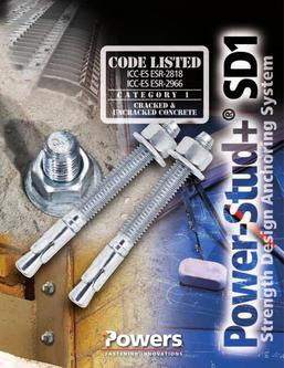 Power-Stud™+ SD1 Wedge Expansion Anchors 06/14