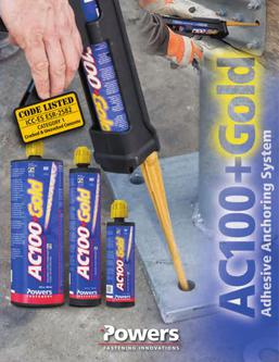 AC100+ Gold® Adhesive Anchoring System 04/14