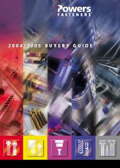 Powers Fasteners 2004/2005 Buyers Guide