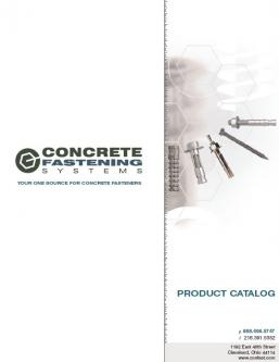 Catalogue: Concrete Fastening Systems Concrete Fasteners Catalog