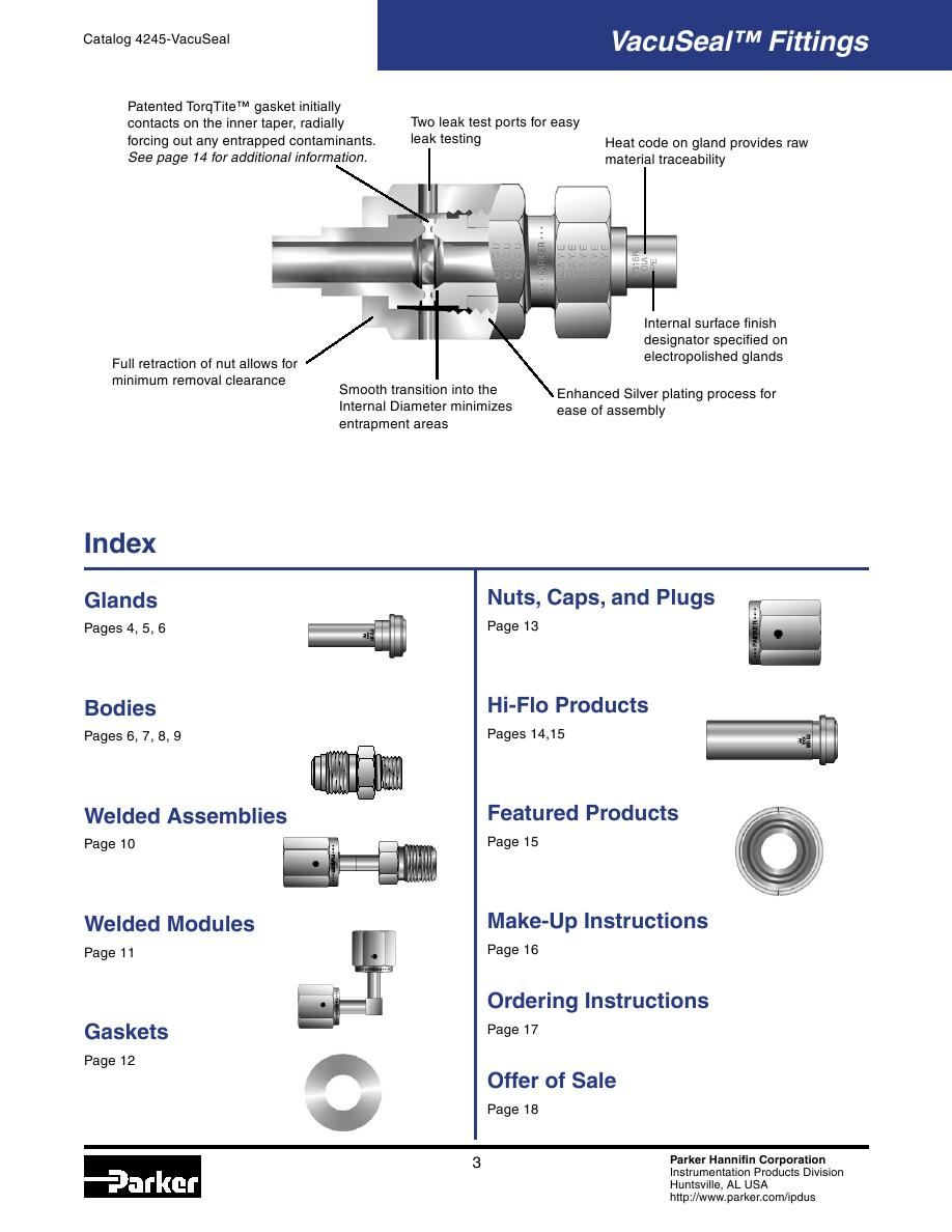 VacuSeal Fittings by Parker Hannifin Corporation