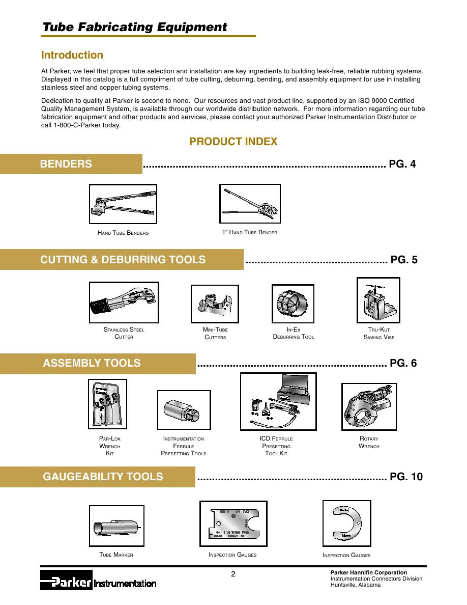 Tube Fabricating Equipment By Parker Hannifin Corporation Hydraulic Pump Wiring Diagram